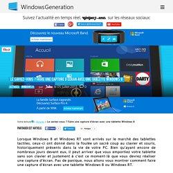 Le saviez-vous ? Faire une capture d'écran avec une tablette Windows 8 WindowsGeneration.fr