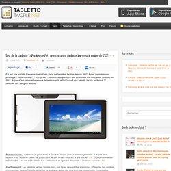 Test de la tablette YziPocket de Evi : une chouette tablette low-cost à moins de 130€