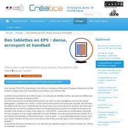 Des tablettes en EPS : danse, acrosport et handball
