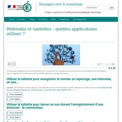 Webradio et tablettes : quelles applications utiliser ?