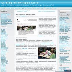 Des tablettes pour la classe ? « Le blog de Philippe Liria
