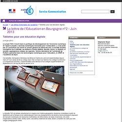 Tablettes pour une éducation digitale - Service communication
