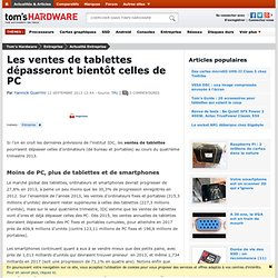 Les ventes de tablettes dépasseront bientôt celles de PC