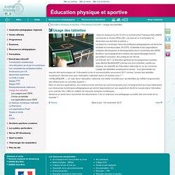 Usage des tablettes - Éducation physique et sportive