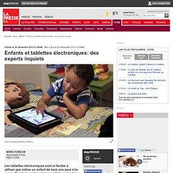 Enfants et tablettes électroniques: des experts inquiets