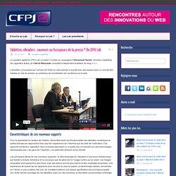 Tablettes, eReaders : sauveurs ou fossoyeurs de la presse ? – 9e CFPJ Lab
