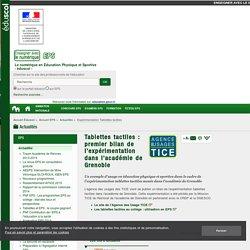 Expérimentation Tablettes tactiles — EPS
