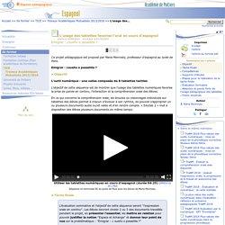 L'usage des tablettes favorise l'oral en cours d'espagnol- Espagnol