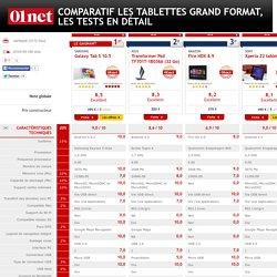 Les tablettes grand format testés et comparés