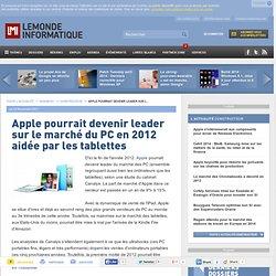 Apple bientôt leader sur le marché du PC ?