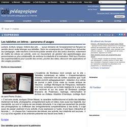 Les tablettes en lettres : panorama d'usages
