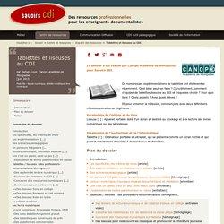 Savoirs CDI- Dossier :Tablettes et liseuses au CDI