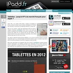 Tablettes : jusqu'à 97% du marché français pour Apple ?