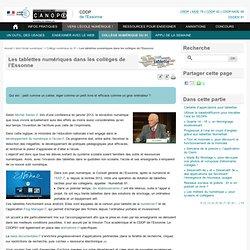 Les tablettes numériques en Essonne