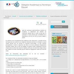 Dossier Tablettes numériques - Tablettes numériques - Innover avec le numérique - DANE Nice