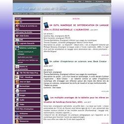 TICE26 - Tablettes numériques et pédagogie