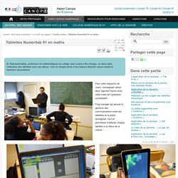 Tablettes Numeritab 91 en maths