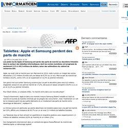 Tablettes: Apple et Samsung perdent des parts de marché