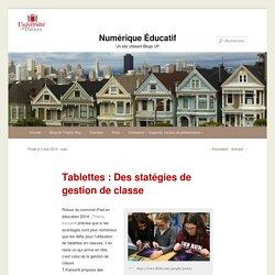 Tablettes : Des statégies de gestion de classe