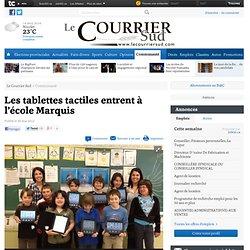 Les tablettes tactiles entrent à l'école Marquis - Éducation