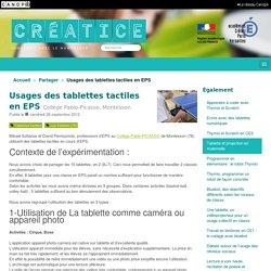 Usages des tablettes tactiles en EPS - Créatice
