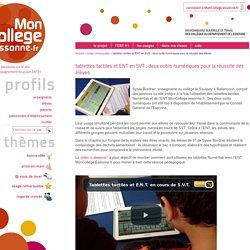 tablettes tactiles et ENT en SVT : deux outils numériques pour la réussite des élèves
