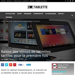 Baisse des ventes de tablettes tactiles pour la première fois