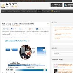 Etude sur l'usage des tablettes tactiles en France (juin 2012)
