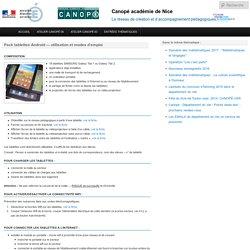 Pack tablettes Android — utilisation et modes d'emploi