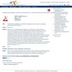 Tablettilaitteiden pedagoginen hyödyntäminen esiopetusryhmissä : lastentarhanopettajien kokemuksia tablettien käytöstä.