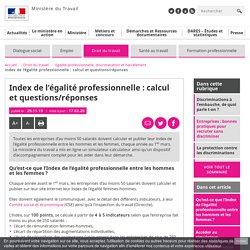 Le tableur pour calculer l'Index de l'égalité salariale Femmes-Hommes