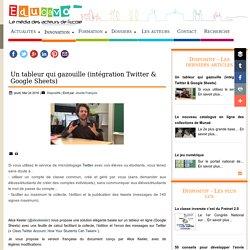 Un tableur qui gazouille (intégration Twitter & Google Sheets)