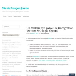 Un tableur qui gazouille (intégration Twitter & Google Sheets)