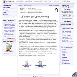 Le tableur par OpenOffice.org - OpenOffice.org