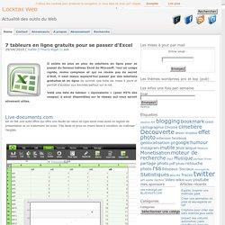 7 tableurs en ligne gratuits pour se passer d'Excel