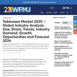 Tableware Market 2020 – Global Industry Analysis, Size, Sh