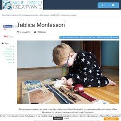Tablica Montessori - Moje Dzieci Kreatywnie