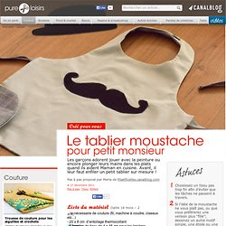 Tablier moustache