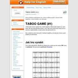TABOO GAME (#1)