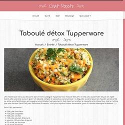 Taboulé détox Tupperware