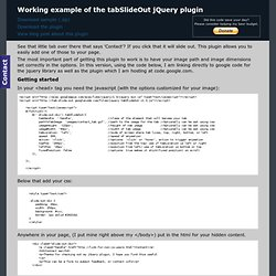 tabSlideOut jQuery plugin example page