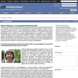 Valérie Tabuteau : A la conquête littéraire de l'ICN