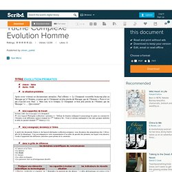 Tache Complexe Evolution Homme