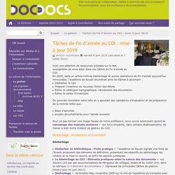 Tâches de fin d'année au CDI - Doc pour docs