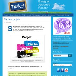 3_Tâches, projets
