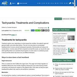 Tachycardia: Treatments and Complications