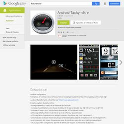 Android-Tachymètre