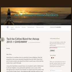 Tacit by Céline Barel for Aesop 2015 + GIVEAWAY