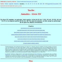 Tacite - Annales - Livre XV
