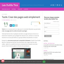 Tackk. Creer des pages web simplement